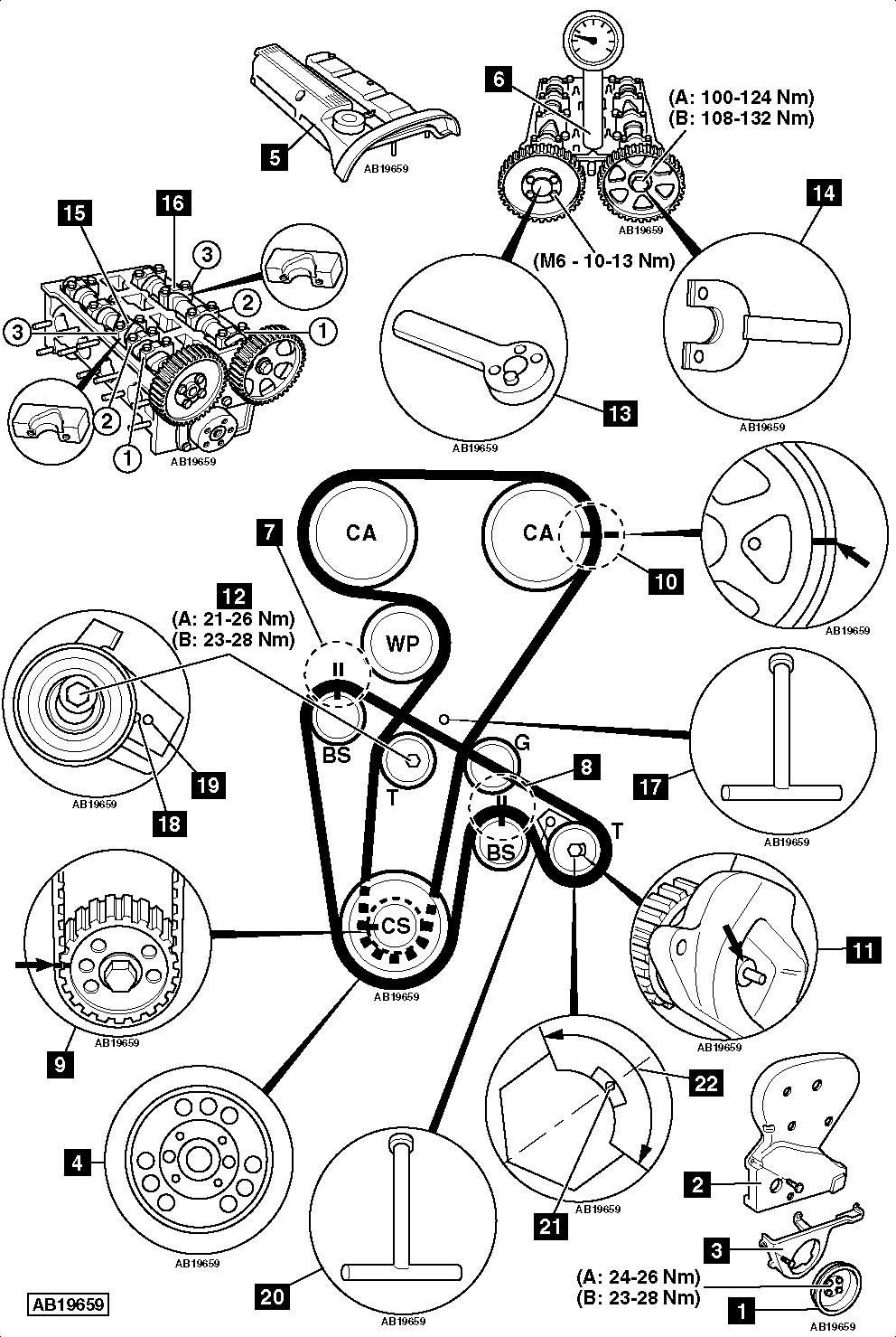 How-to-Replace-timing-belt-on-Alfa-Romeo-156-2.0-TS-16V-2002-2005
