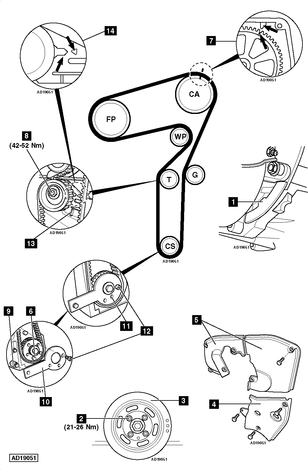 How-to-Replace-timing-belt-on-Alfa-Romeo-156-2.4-JTD-2002-2005