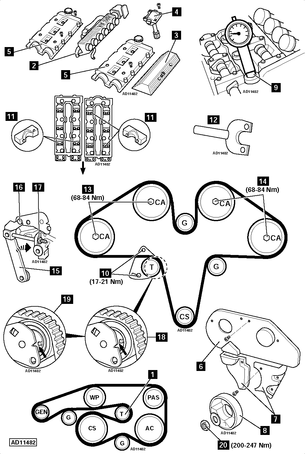 How-to-Replace-timing-belt-on-Alfa-Romeo-156-3.2-GTA-2002-2005