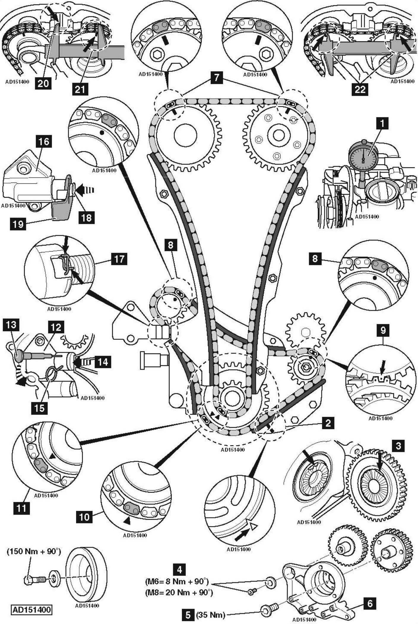 Replace-timing-chain-on-Audi-A5-8T-2-0-TFSI-2009
