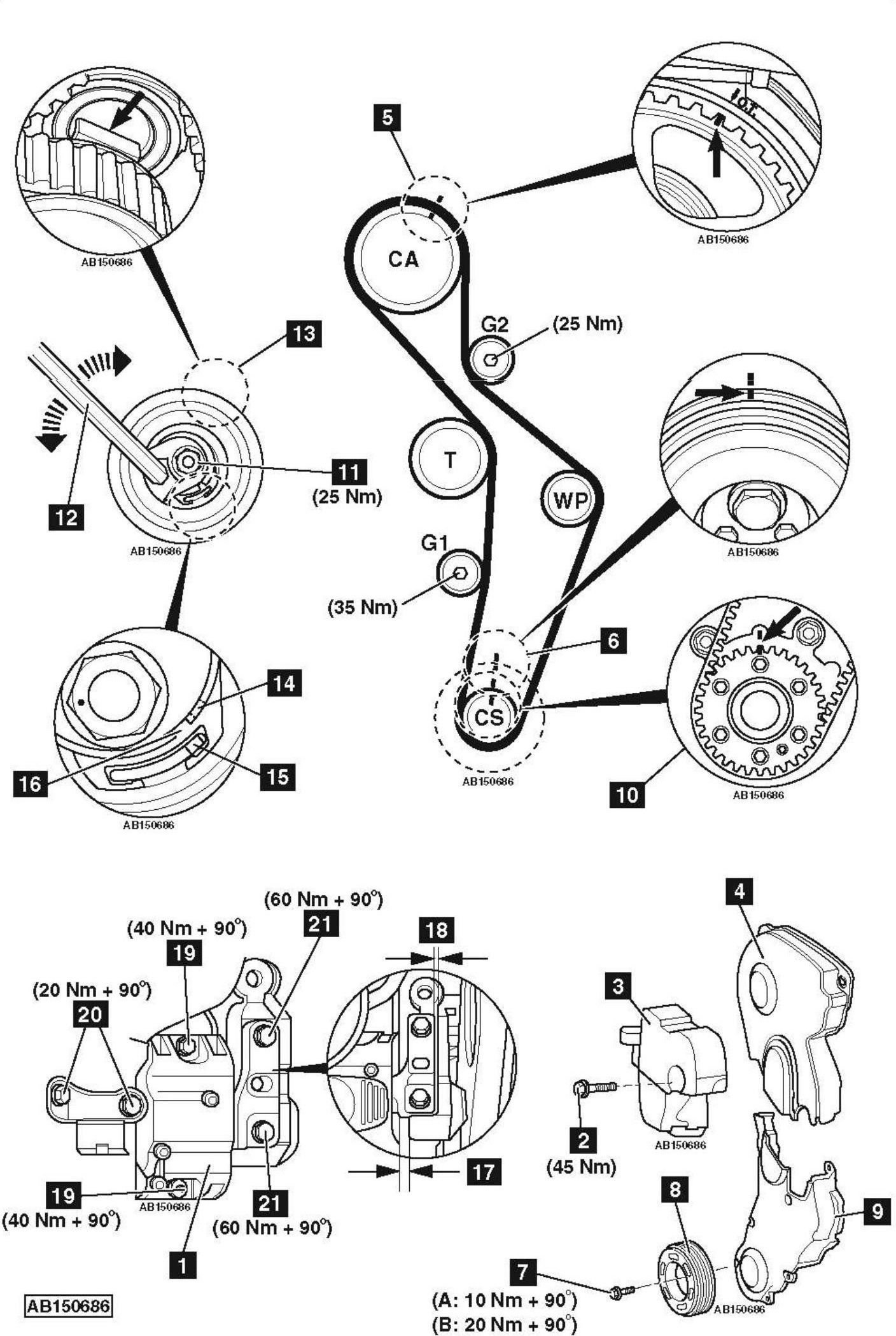 Replace-timing-chain-on-Audi-S3-2-0-TFSI-2008