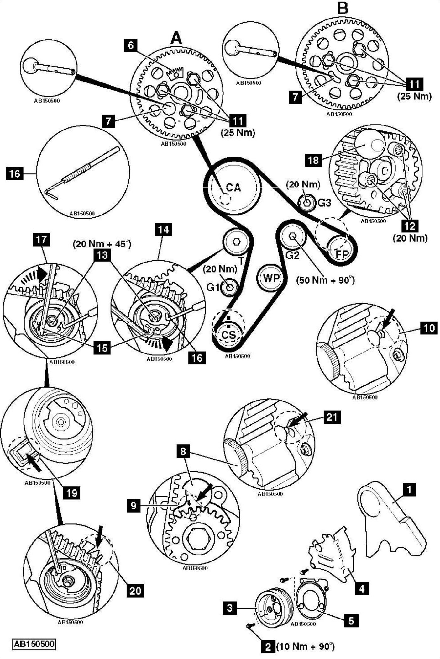 Replace-timing-chain-on-Audio-TT-2-0-DTi-2009