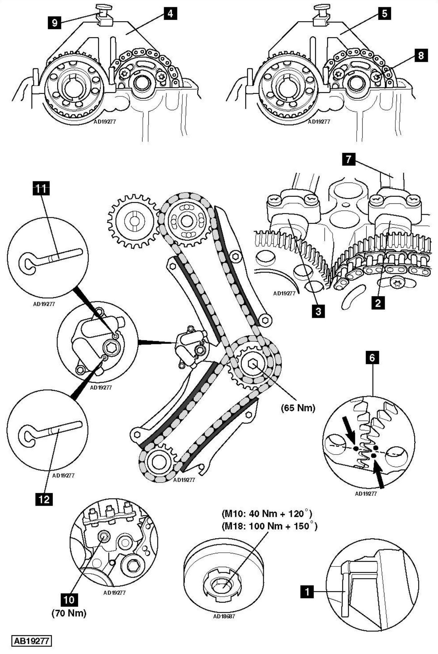 Replace-timing-chain-on-BMW-X3-E83-2-0-2005