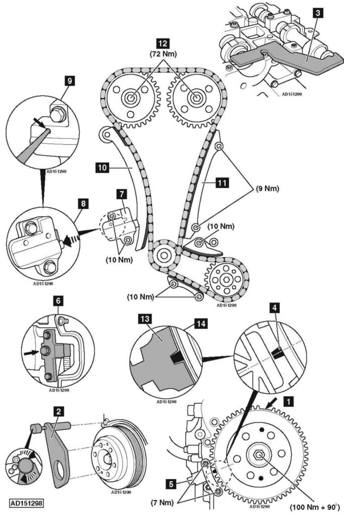 Replace-timing-chain-on-Range-Rover-Evoque-2-0-2011-684x1024